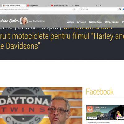 """Un român a construit motociclete pentru filmul """"Harley and the Davidsons"""""""